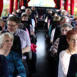 Some of the 42 on the homeward journey from Bodnant.